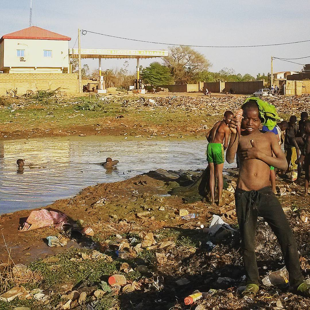 Fishing in a Garbage Dump Pond